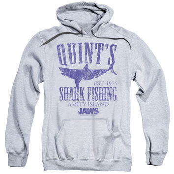 JAWS/QUINTS-ADULT PULL-OVER HOODIE-ATHLETIC HEATHER