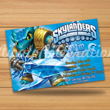 Skylanders Design  Invitation - Digital File