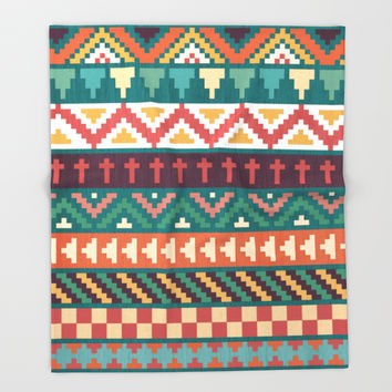 Southwestern Pattern Throw Blanket by Noonday Design | Society6
