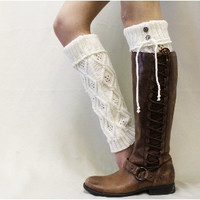 WONDERLAND cuff leg warmers - cream