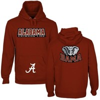 Alabama Crimson Tide Back To Basics Pullover Hoodie - Crimson