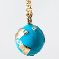 catbird::Flotsam  Jetsam::Brass Enameled Globe Necklace