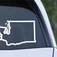 Washington State Outline WA - USA America Die Cut Vinyl Decal Sticker