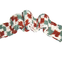Unisex - Rust , Sage and Ecru Scarf - Classic Style