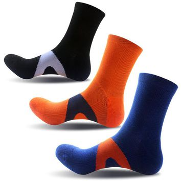 New fashion high-quality men's casual wear pressure cotton socks right angle with the bristles to strengthen the warm 3 PAIRS