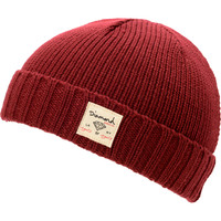 Diamond Supply City Cuff Burgundy Beanie at Zumiez : PDP