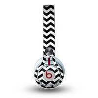 The Black & White Chevron Pattern V2 Skin for the Beats by Dre Mixr Headphones