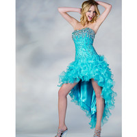 2013 Prom Dresses - Turquoise Sequin & Ruffled Chiffon Prom Dress - Unique Vintage - Prom dresses, retro dresses, retro swimsuits.