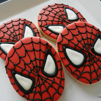 Spiderman SpideySuper hero  Cookies One dozen hand by 3CSC on Etsy