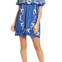 Red Carter Off the Shoulder Cover-Up Dress | Nordstrom