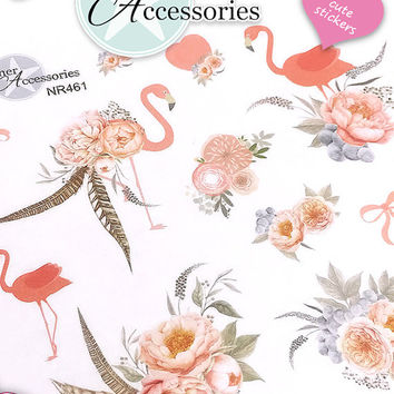 Flower Stickers Spring Stickers Flamingo Stickers Planner Stickers Erin Condren Functional Stickers Decorative Stickers NR461