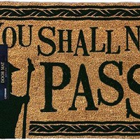The Lord Of The Rings | You Shall Not Pass DOOR MAT