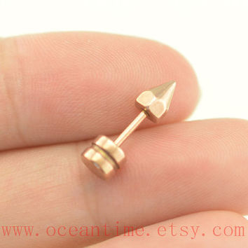 Tragus Earring Jewelry,arrow head tragus piercing jewelry,rose gold arrow ear Helix Cartilage jewelry,oceantime