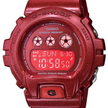 Casio Womens G-Shock S Series - Red Dial - Red Resin Strap - 200 Meters