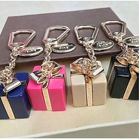 LV Trending Women Stylish Personality Square Gift Type Car Key Ring Bag Accessories Jewelry(Color Random) I12703-1