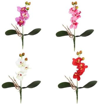 ONETOW wedding decoration silk flowers for a wedding Triple Head Artificial Butterfly Orchid Silk Flower Home Wedding Decor #303