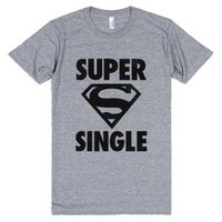 Super Single-Unisex Athletic Grey T-Shirt
