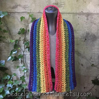 Rainbow Scarf~Ready to ship~ FREE SHIPPING