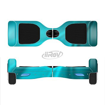 The Turquoise Highlighted Swirl Full-Body Skin Set for the Smart Drifting SuperCharged iiRov HoverBoard