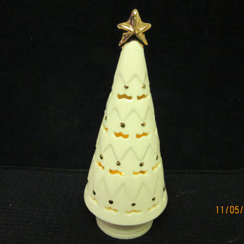 Lenox Christmas Tree Porcelain, Tea Light Candle Holder