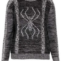 Knitted 3D Spider Jumper - Ghoul Girls  - New In