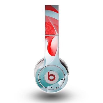 The Abstract Teal & Red Love Connect Skin for the Original Beats by Dre Wireless Headphones
