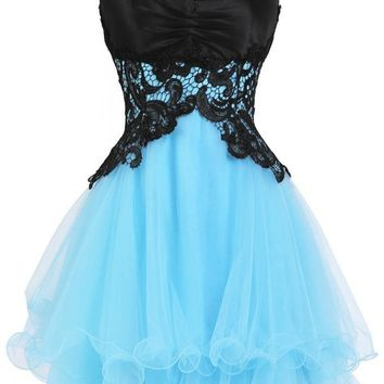 Cute Sweetheart Homecoming Dress Lace up Back Fast Free Shipping