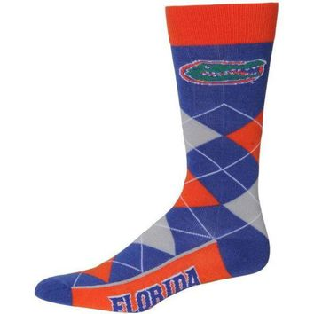 DCCKG8Q NCAA Florida Gators For Bare Feet Argyle Socks