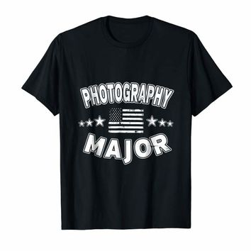 Photography Major USA Stars Stripes College Student T-Shirt