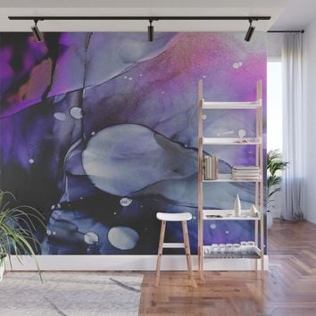 A Violet Gaze Wall Mural by duckyb