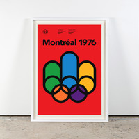 Montreal 1976 Olympics Poster from Visual Conversation