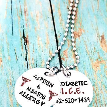 Peanut Allergy Necklace, Nut Allergy Warning, Medical Alert, Allergy Alert, Allergy Bracelet, Kid Allergy