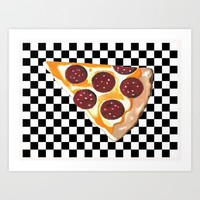 Eat Pizza  Art Print by Kathleen Sartoris