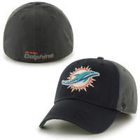 Miami Dolphins '47 Brand Nightshade Franchise Fitted Hat - Charcoal