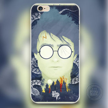 Harry Potter Personality illustration White Phone Case for iPhone 7 6 6S Plus 4 4S 5C 5 SE 5S Cover