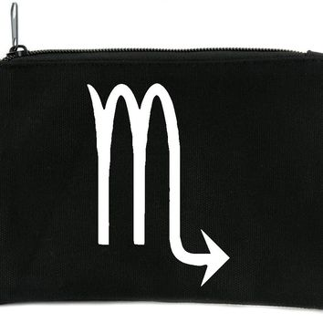 Zodiac Scorpio Sign Cosmetic Makeup Bag Astrology Horoscope The Scorpion