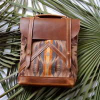 The Coastal Bag- Horween leather and Pendleton wool bag