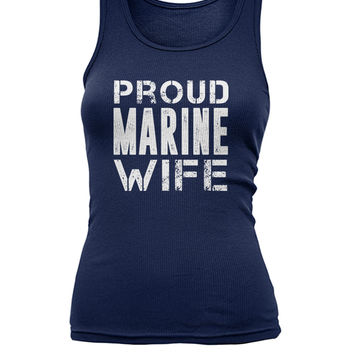 Proud Marine  Wife Women's Tank Top