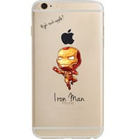 "Iron Man Jelly Clear Case for Apple iPhone 6/6s PLUS (5.5"")"