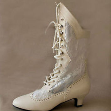 Lolita Cosplay Granny Vintage Wedding Romantic Boho Victorian Dress Boots