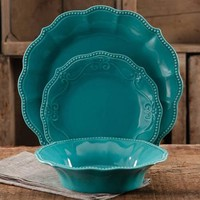 The Pioneer Woman Paige 12-Piece Dinnerware Set - Walmart.com