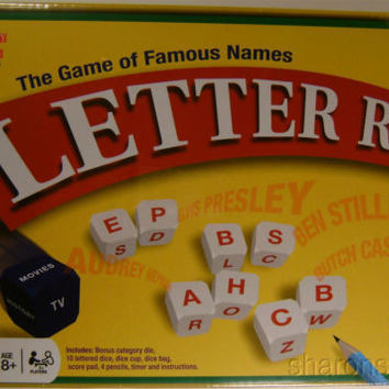 Letter Rip Famous Names Movies TV History Dice University Games Timer Family NIB