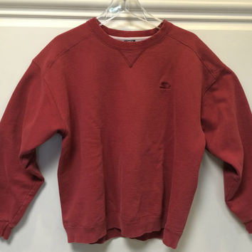 Vintage Starter Sweatshirt Pullover  Crewneck Red Medium
