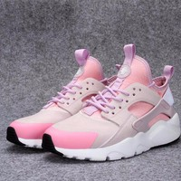 Best Online Sale Nike Air Huarache 4 Run Rainbow Ultra Breathe Women Light Pink Purple Running Sport Casual Shoes Sneakers - 932