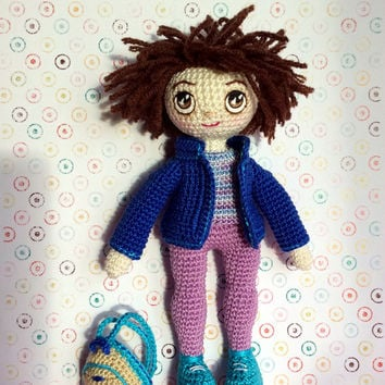 Crochet Doll Crochet toy Gift for daughter Gift for girl Cute toy  Amigurumi doll Toys and games Dolls Kids room