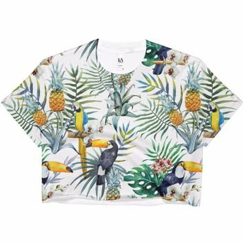 Tropical Dreams Ladies' Crop Top