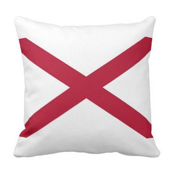 Alabama State Flag American MoJo Pillow