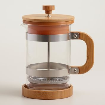 Bamboo French Press Coffee Maker