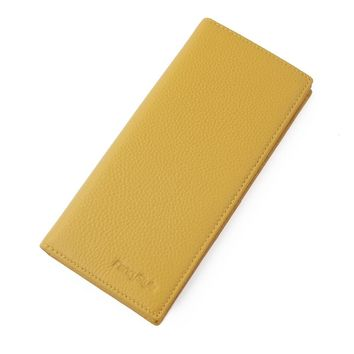 Stylish Full Grain Geniuns Leather Checkbook Holders Wallet Rfid Credit Card Protector