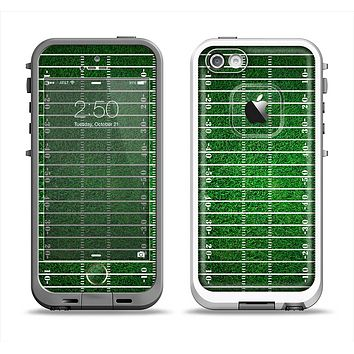 The Green Turf Football Field Apple iPhone 5-5s LifeProof Fre Case Skin Set